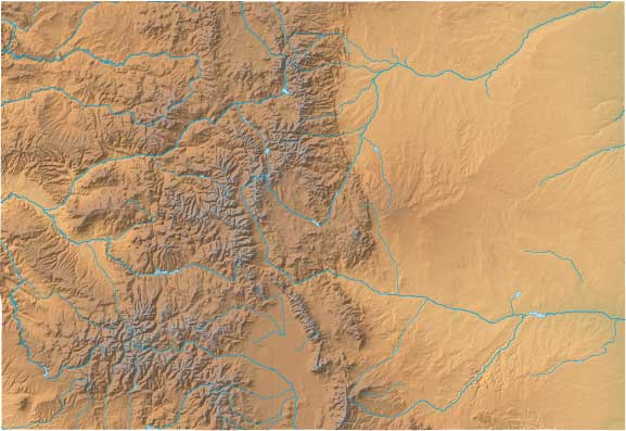 Colorado relief map